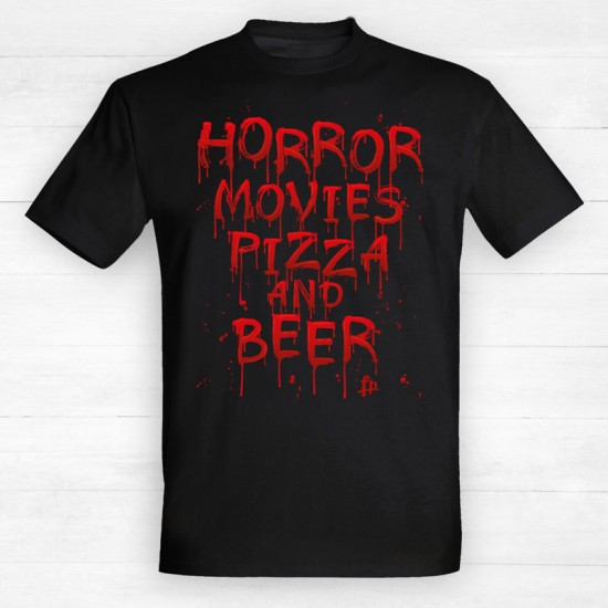 Horror movies pizza and beer