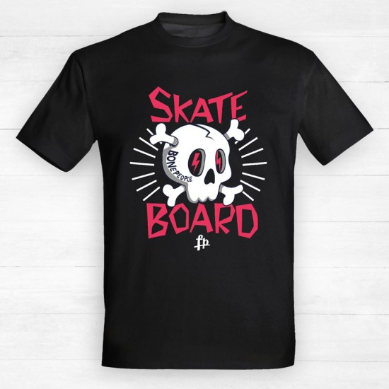 Skate Board Bone People Cartoon