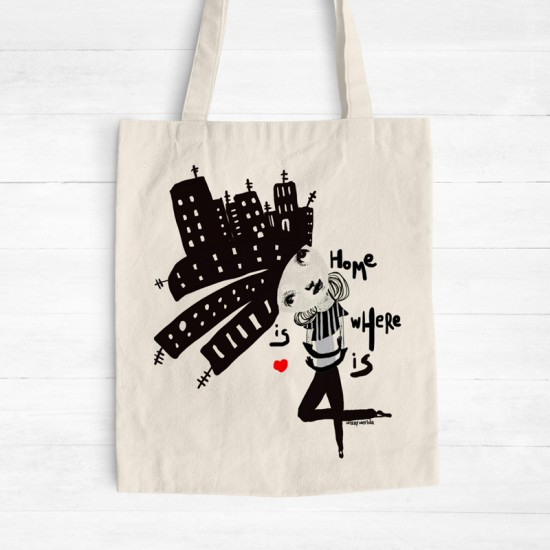 Home is You - Cotton Tote Bag