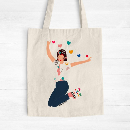 Kick it - Cotton Tote Bag