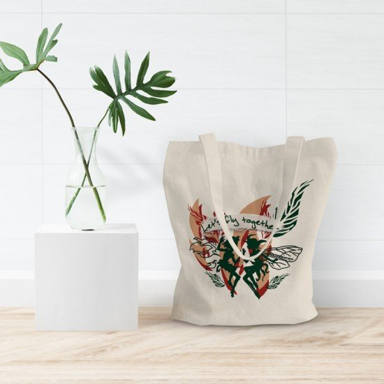 Fairies - Let's Fly Together - tote bag