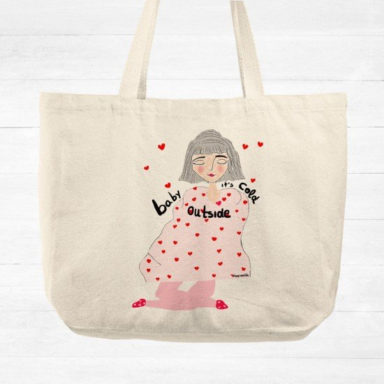 Baby its cold outside - tote bag