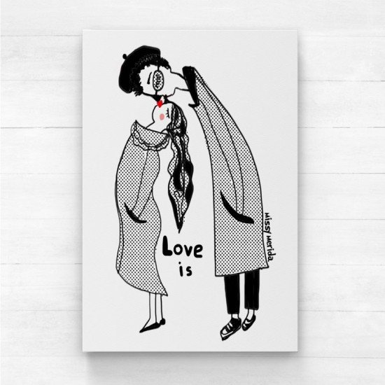 love is - Canvas Print