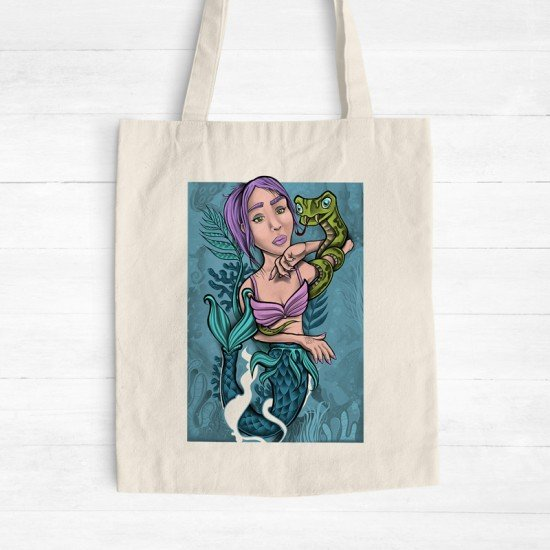 Mermaid n' Snake - Tote Bag