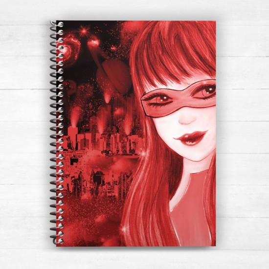 Girl of tomorrow sci - Spiral Notebook