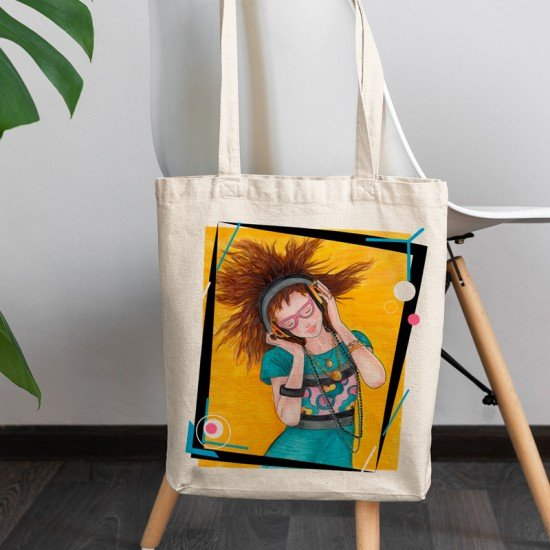 Feel the music - Cotton Tote Bag