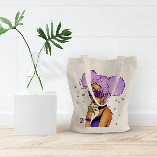 Flower Binded - Cotton Tote Bag