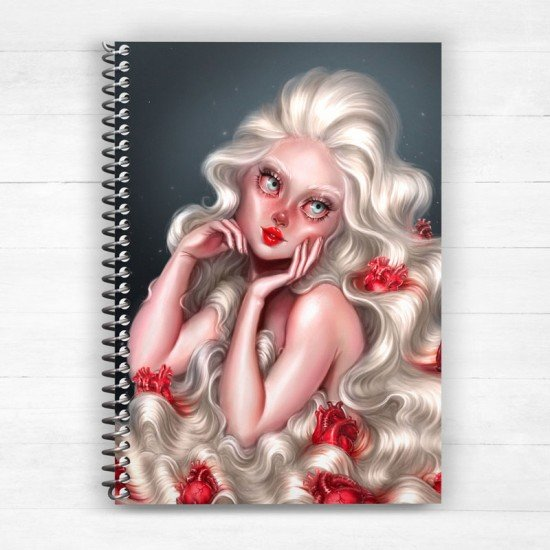 Hearty Girl - Spiral Notebook