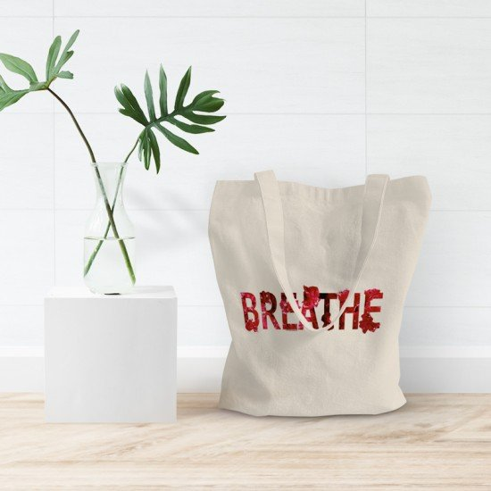Positive Vibes _Breath - Cotton Tote Bag