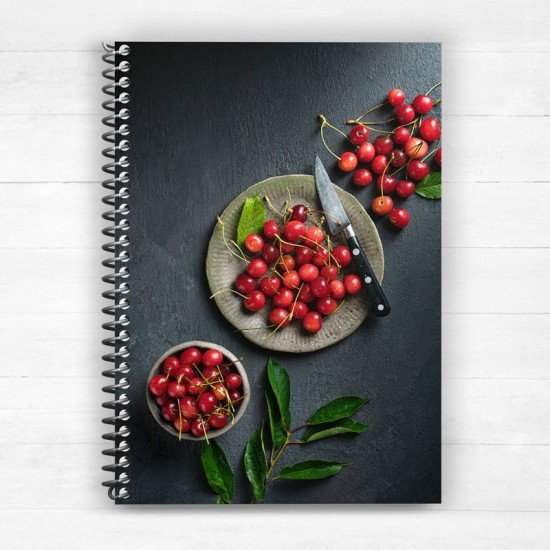 Cherries from Amades village Chios Greece - Spiral Notebook