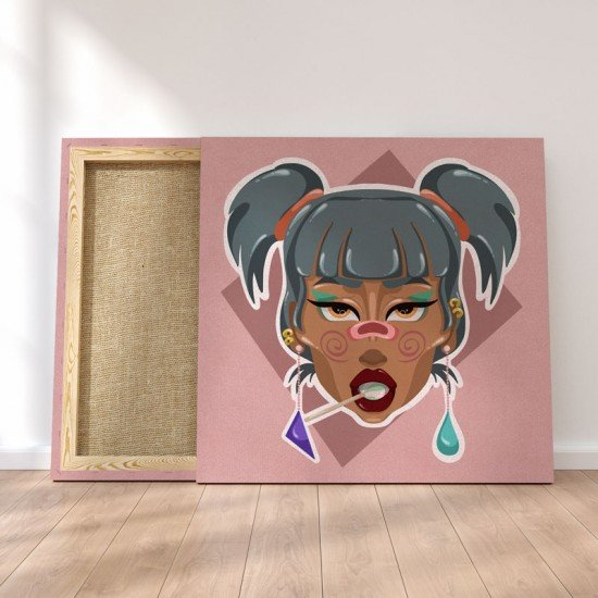 Funky Girl - Canvas Print