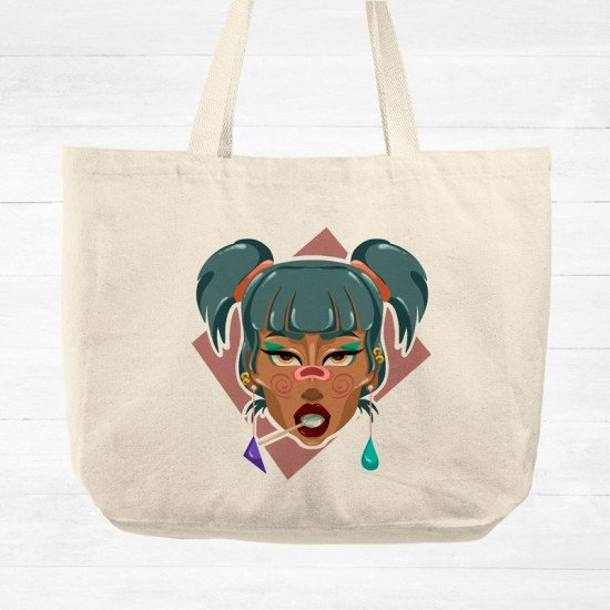 Funky Girl - Cotton Tote Bag