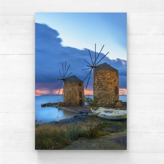 Windmills of Chios - Canvas print