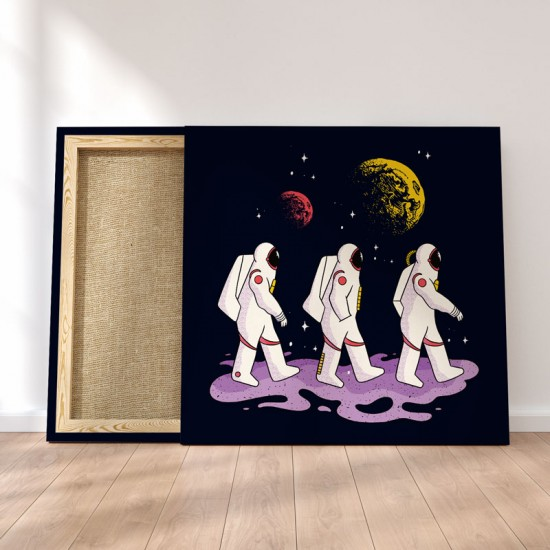 Astronauts walking - Canvas Print