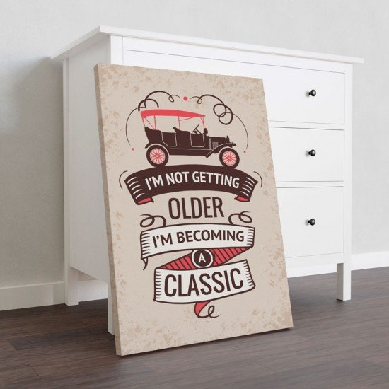 Becoming a classic - Canvas Print