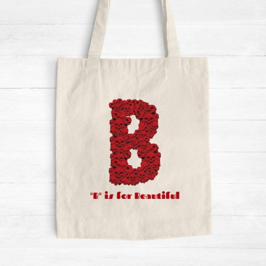 B is for Beautiful - Cotton Tote Bag