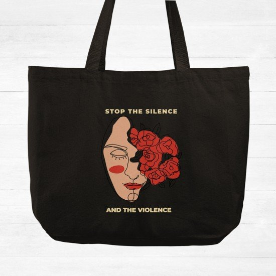Stop the silence and the violence - Cotton Tote Bag