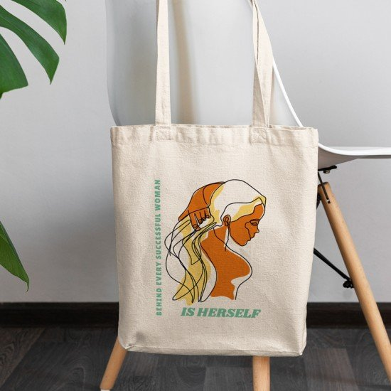 Behind every successful women is herself - Cotton Tote Bag