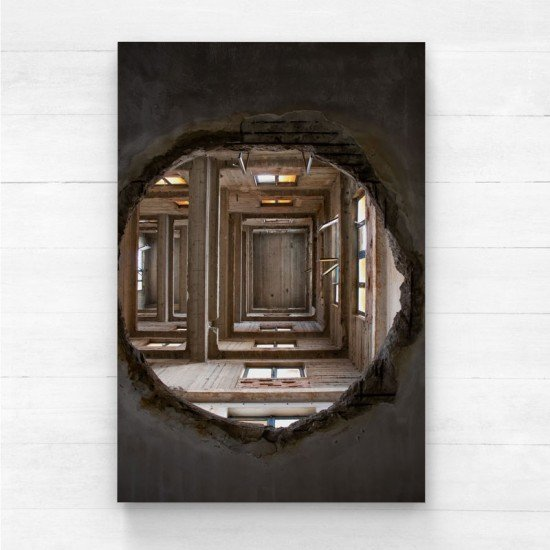 Roof hole - Canvas Print