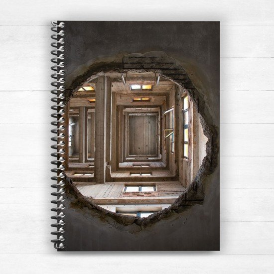 Roof hole - Spiral Notebook