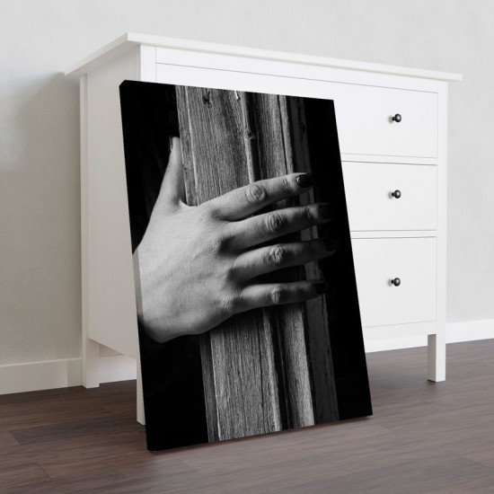 Hand and Wood - Canvas Print