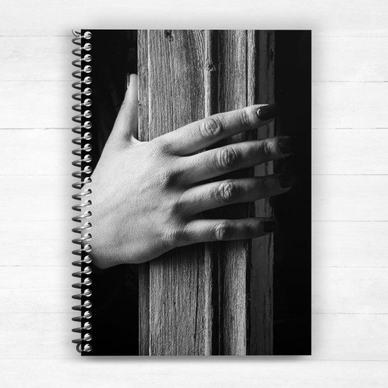 Hand and Wood - Spiral Notebook