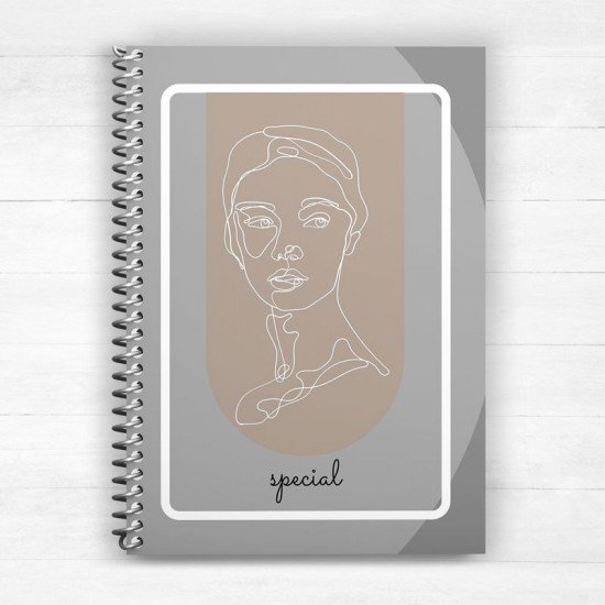 Special figure lady - Spiral Notebook
