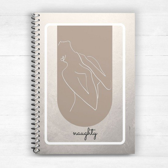 Naughty figure lady - Spiral Notebook