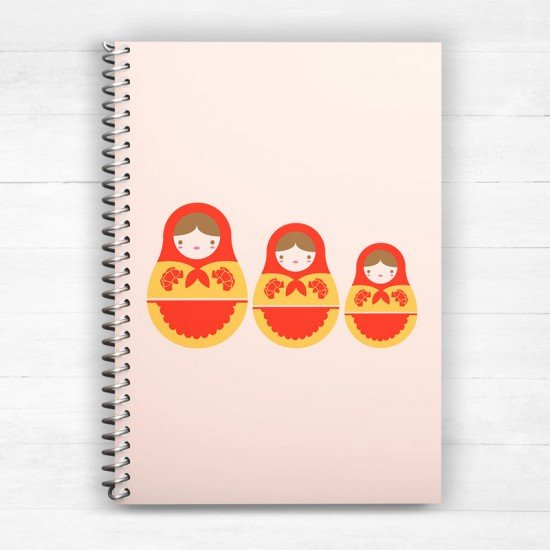 Babushka - Spiral Notebook
