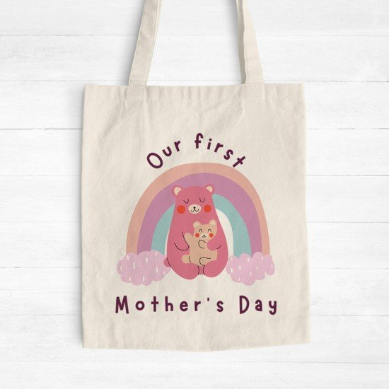 Our first Mother's Day - Cotton Tote Bag