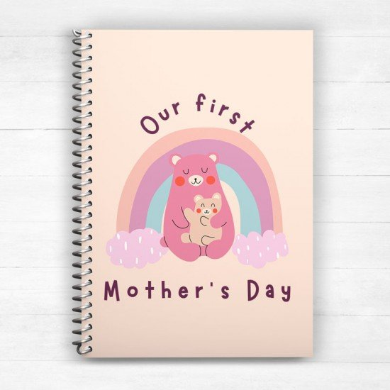 Our first Mother's Day - Spiral Notebook