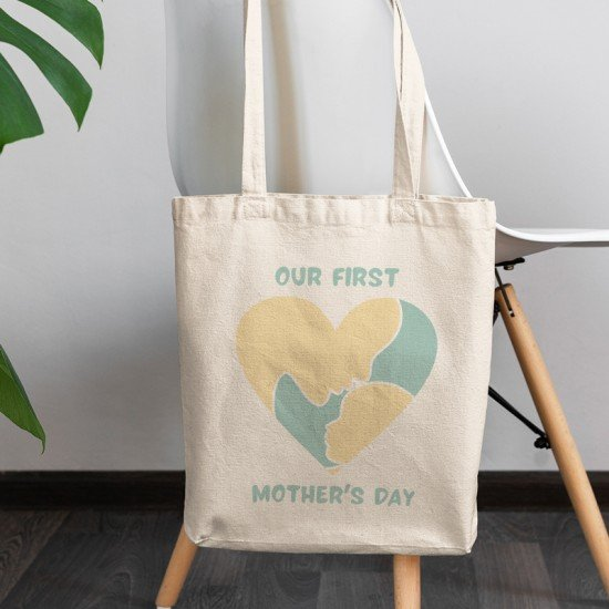 Our first Mother's Day - Boy - Cotton Tote Bag