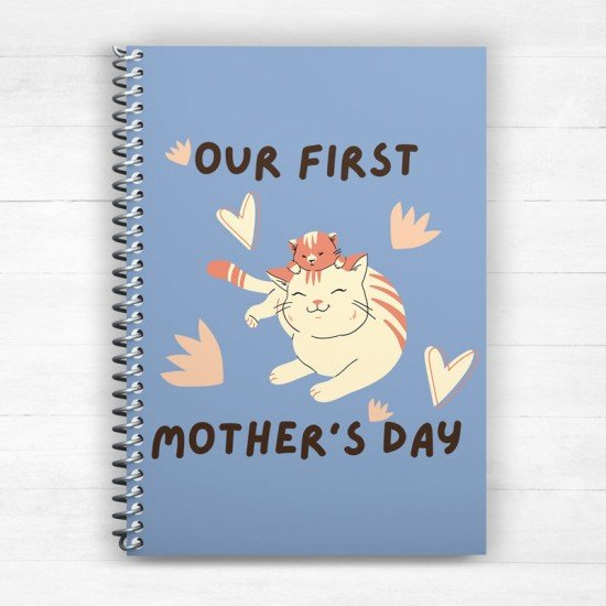 Our first Mother's Day - Cats 2  - Spiral Notebook
