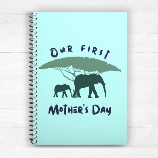 Our first Mother's Day - Elephants - Spiral Notebook