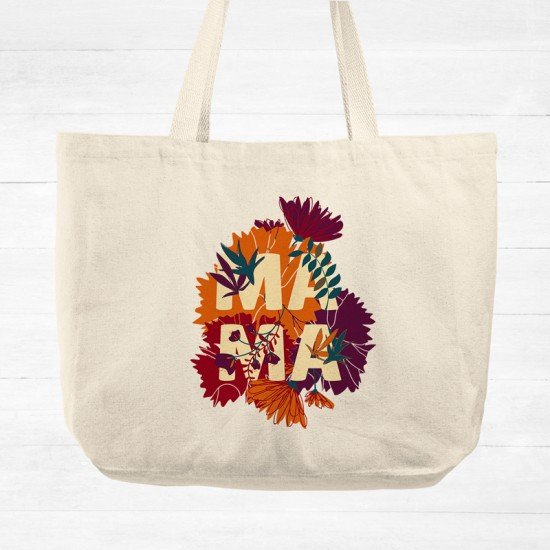 Our first Mother's Day - Mama - Cotton Tote Bag