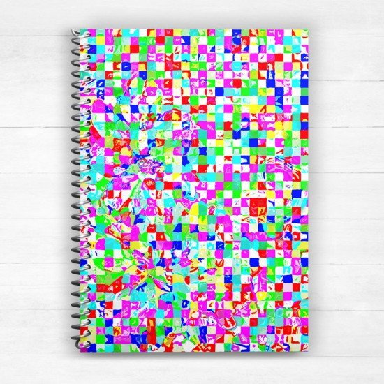 Abstract Optimistic - Spiral Notebook