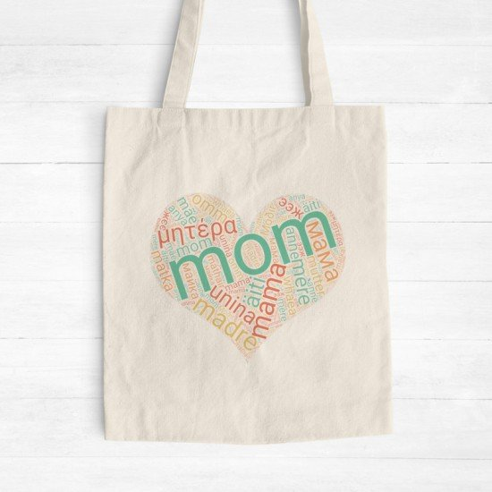 Mom's the word - Cotton Tote Bag