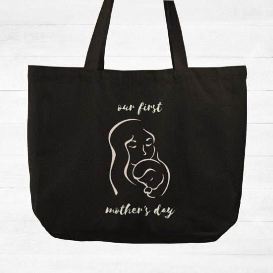 Mother's Day - Mother and child - Cotton Tote Bag