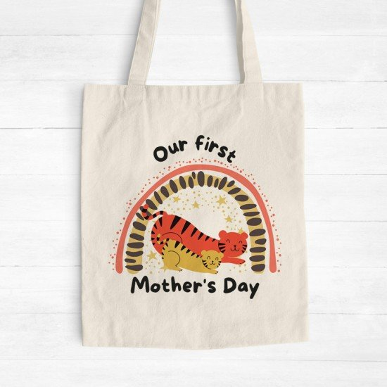 Mother's Day - Tigers - Cotton Tote Bag