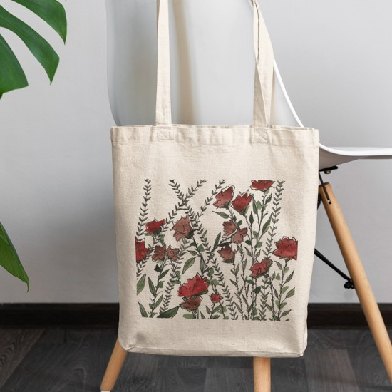 Flower Labyrinth I - Cotton Tote Bag