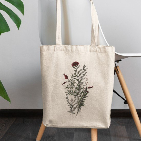 Red Flower I - Cotton Tote Bag