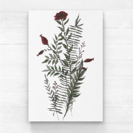 Red Flower I - Canvas Print