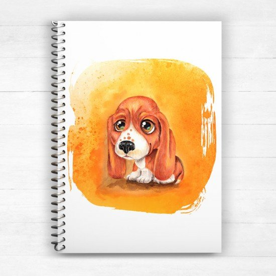 Beagle Puppy - Spiral Notebook