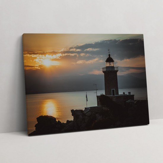 Melagavi Lighthouse Loutraki II - Canvas Print