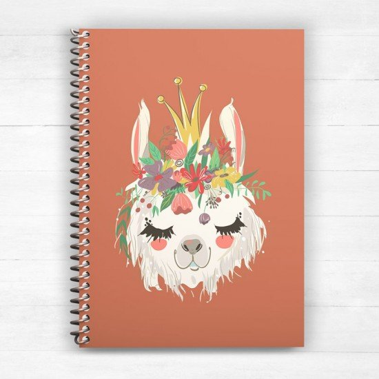 Baby Lama - Spiral Notebook