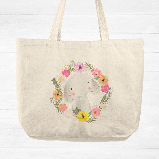 Baby Elephant - Cotton Tote Bag