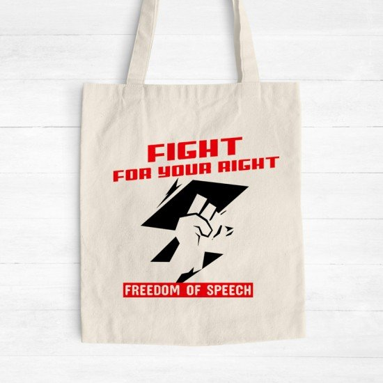 Freedom of speech - Cotton Tote Bag