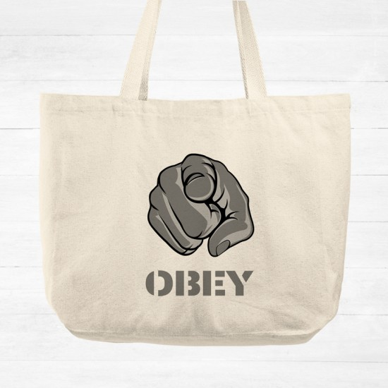 Obey II - Cotton Tote Bag