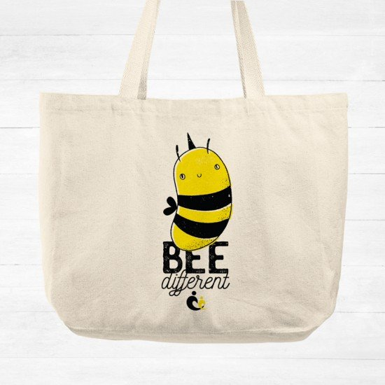 Bee Different V1 - Cotton Tote Bag