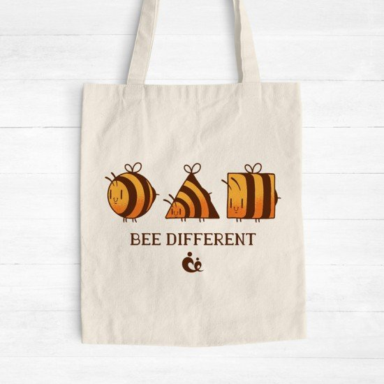 Bee Different V2 - Cotton Tote Bag